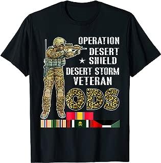 Mens Operation Desert Storm-Shield Veteran ODS Gift T Shirt