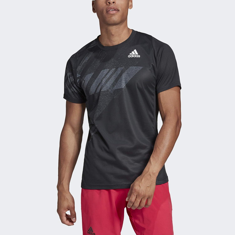adidas Men's Freelift Printed Tee Heat.rdy