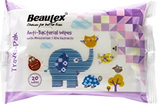 Beautex Anti Bacterial Wipes, 20ct (Pack of 2)