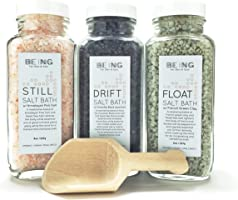 LIVE BY BEING Bath Salt Spa Gift Set Collection – All-Natural, Vegan, Handmade, Organic Essential Oils for Muscle Aches,...