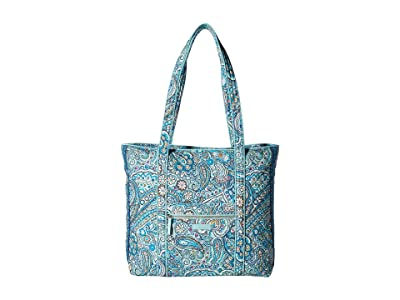 Vera Bradley Iconic Vera Tote (Daisy Dot Paisley) Tote Handbags