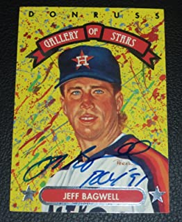 Jeff Bagwell Signed 1992 Triple Play Astros Baseball Card COA Autograph - PSA/DNA Certified - Baseball Slabbed Autographed Cards