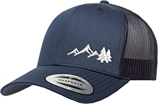 Love Sketches Embroidered Outdoors Mountain Trucker Snapback Cap Mesh Back Men and Women