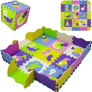Yostrong 1.3M² Alfombra Puzzle para Niños Bebe Infantil, Esteras De 30x30 cm, 9 Piezas Espuma EVA YP-13b9F16