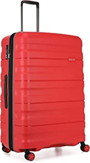 Antler Juno 2 4W Large Roller Suitcase Hardside, Red, 81cm