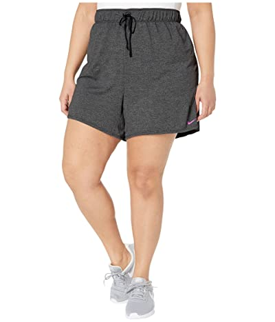 Nike Plus Size Dry Shorts Attack 2.0 TR 5 (Black/Particle Grey/Fire Pink) Women