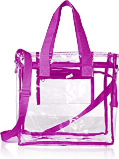 Largest Stadium Approved Clear Bag with Handles and Adjustable Strap 12x12x6 Clear Tote for Men and Women