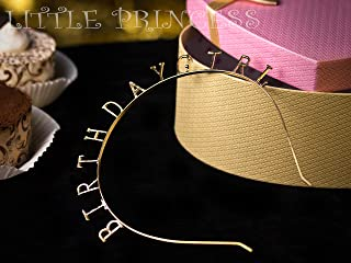 Magic Gold & Silver Birthday Girl Tiara Headband Headpiece, Girls Party Hair Accessories (Gold)