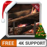 GRATIS Calm Fireplace HD: disfrute del invierno con una hermosa chimenea caliente en las vacaciones de Navidad en su televisor HDR 4K, TV 8K y dispositivos de fuego como fondo de pantalla y tema para