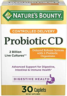 Controlled Delivery Probiotic by Nature's Bounty, Dietary Supplement, Advanced Support for Digestive, Intestinal and Immune Health, 30 Caplets