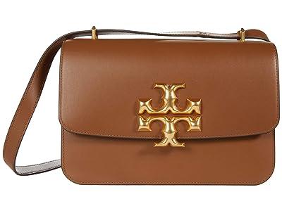 Tory Burch Eleanor Convertible Shoulder Bag (Moose) Handbags