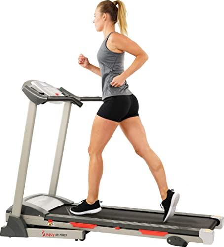 Sunny Health & Fitness Exercise Treadmill, Motorized Running Machine for Home with Folding, Easy Assembly, Sturdy, Po...