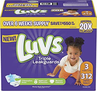 Luvs Baby Diapers size 6 (192)