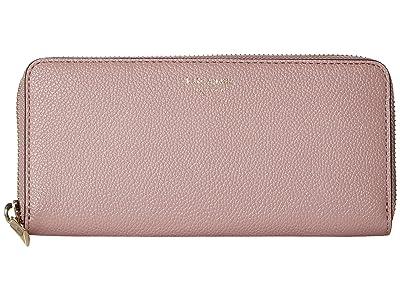 Kate Spade New York Margaux Slim Continental Wallet (Pressed Flowers) Wallet Handbags