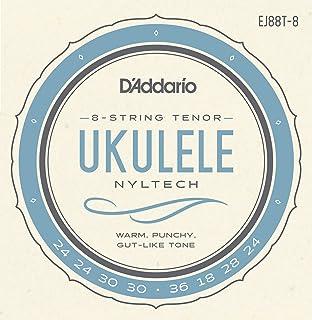 مجموعة القيثارة ذات 8 خيوط من D'Addario Nylon tech Ukulele (EJ88T-6)