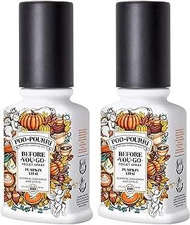Poo-Pourri Before You Go Toilet Spray Pumpkin Chai 2 Ounce, 2 Pack