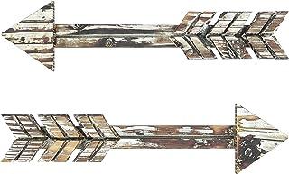 "TreasuresDeck Wooden Arrow Wall Decor – Set of 2 ExtraLarge 16.7"" x 2.5"" Arrow.."
