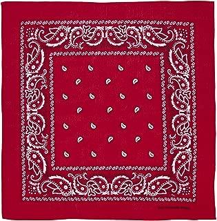 Large 100% Cotton Paisley Bandanas (22 inch x 22 inch)