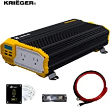 Krieger 2000 Watts Power Inverter 12V to 110V, Modified Sine Wave Car Inverter, Dual 110..