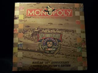 USAOPOLY Monopoly 50th Anniversary Nascar 1948-1998