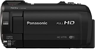 Panasonic Full HD Video Camera Camcorder HC-V770, 20X Optical Zoom, 1/2.3-Inch BSI Sensor, HDR Capture, Wi-Fi Smartphone M...