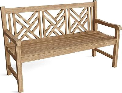 Anderson Teak BH-122 Vilano 3-Seater Bench, Golden Honey Teak