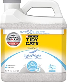 Purina Tidy Cats Light Weight, Low Dust, Clumping Cat Litter, LightWeight Glade Clear Springs Multi Cat Litter - 6 lb. Jug