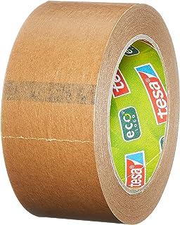 tesa Pack Paper ecoLogo 3 szt. - ekologiczna taśma do pakowania z papieru, 60% biobazowanego materiału - brązowa - 3 rolki...