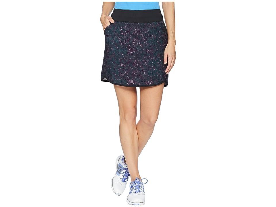adidas Golf Printed Rangewear Skort (Black) Women