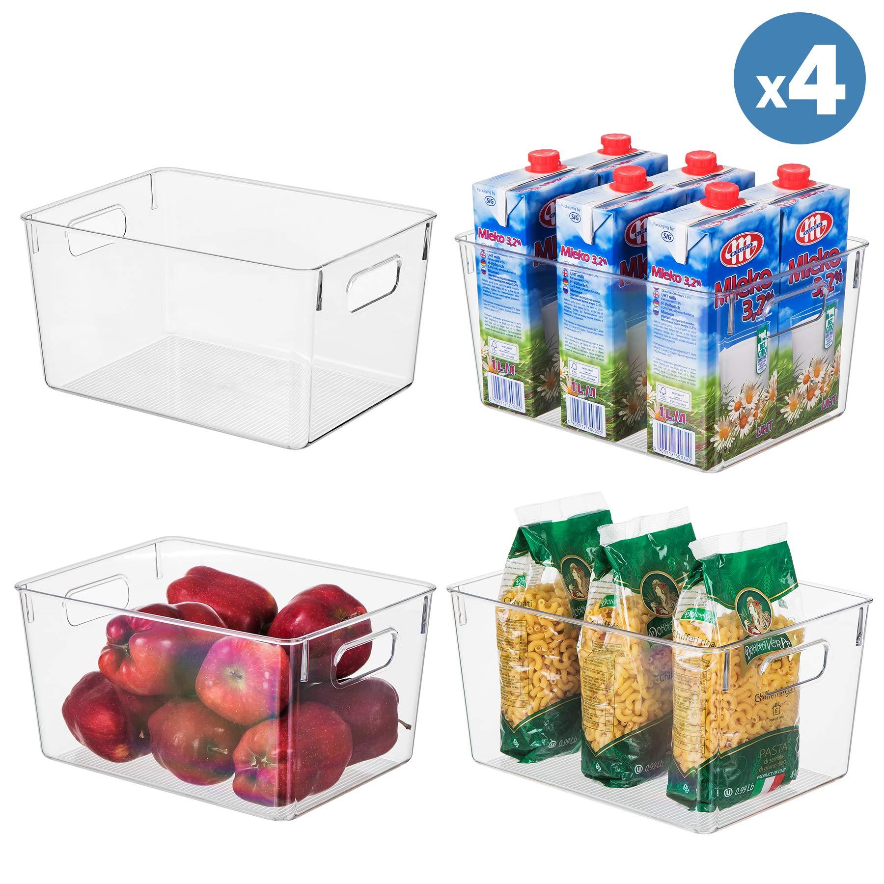 Plastic Storage Organizer Container Transparent