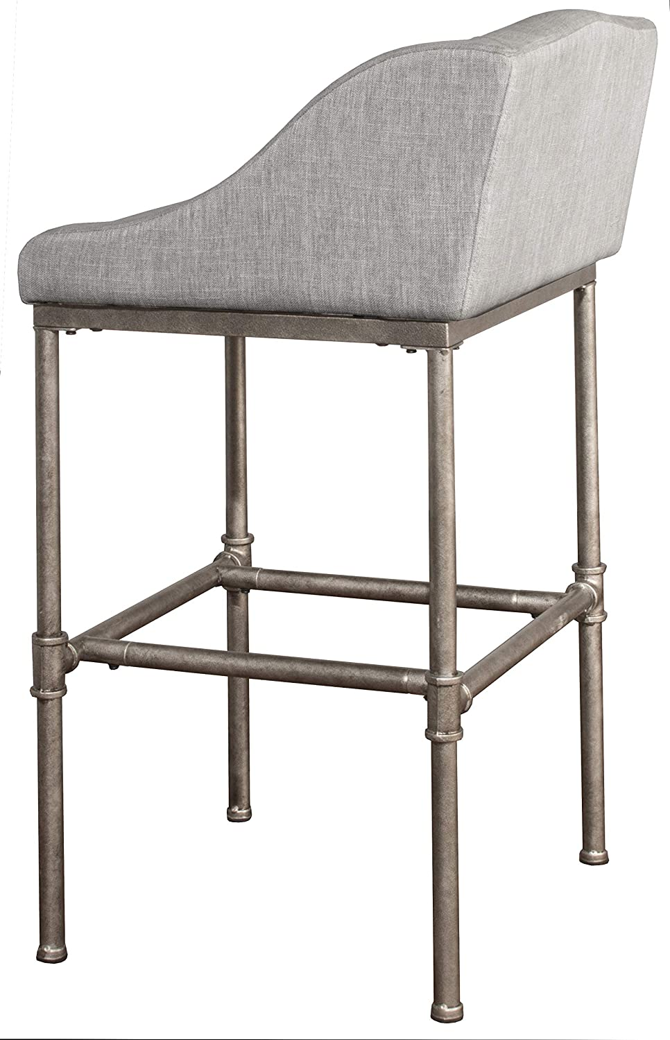 Hillsdale Furniutre Dillon Counter Stool, Textured Silver