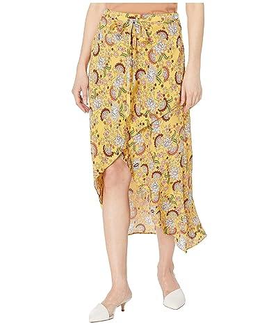 Sanctuary Jamie Faux Wrap Midi Skirt (Sunrays) Women