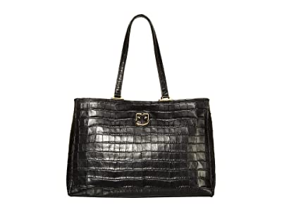Furla Belvedere Medium Tote (Onyx) Handbags