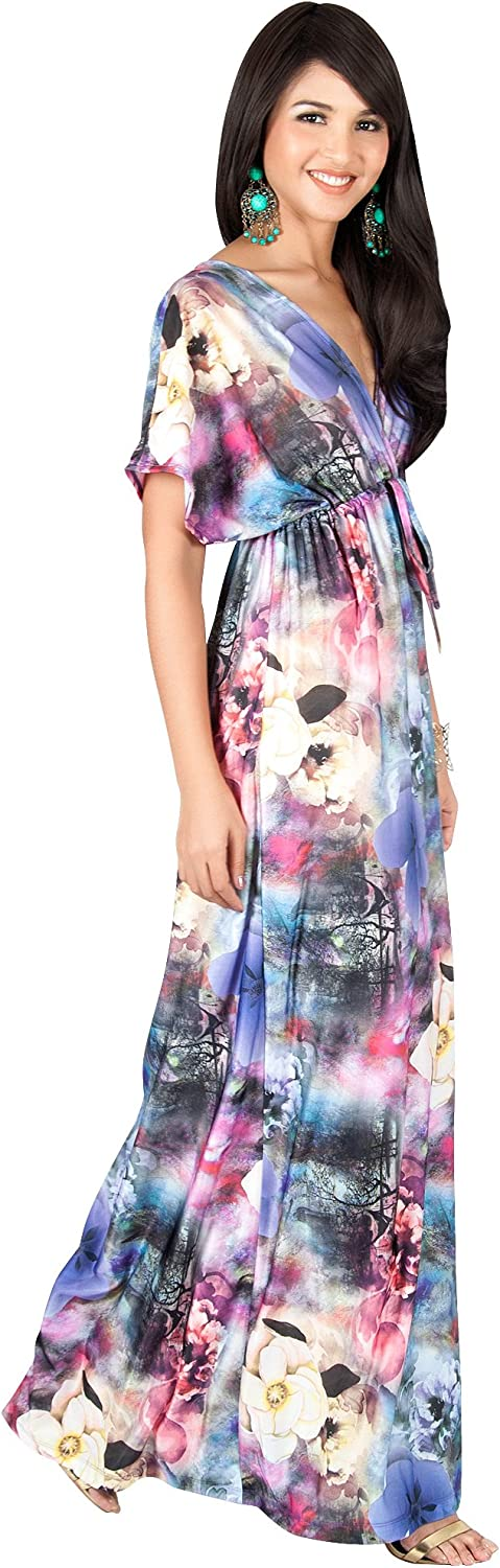 Max 82% OFF KOH Womens Long Kimono Short Sleeve Floral Summer V-Neck Flo Animer and price revision