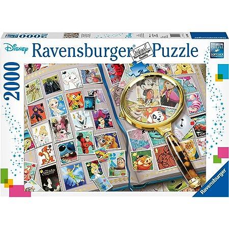 Ravensburger- Puzzle 2000 pièces Mes Timbres préférés Disney Adulte, 16706