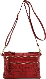 Multi Zipper Pocket Small Wristlet Crossbody Bag