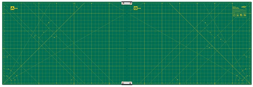 OLFA 23-Inch-by-70-Inch Gridded Cutting Mat Set Clipped