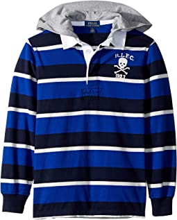 Striped Cotton Hooded Rugby (Little Kids/Big Kids)