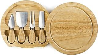 IBILI 782750 Set de Couteaux à Fromage, INOX, Marron, 21 x 21 x 4 cm