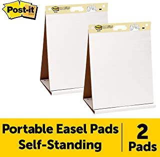 Post-it Super Sticky Portable Tabletop Easel Pad, 20x23 Inches, 20 Sheets/Pad, 2 Pads (563 VAD 2PK)