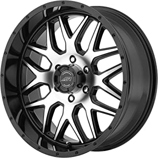 22x9//5x127mm, +15mm offset American Racing VN701 Nova Gloss Black Wheel with Machined Face and Spokes