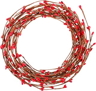 Sumind 85 feet Red Pip Berry Garland Christmas Pip Berry for Christmas Indoor Outdoor Decorations