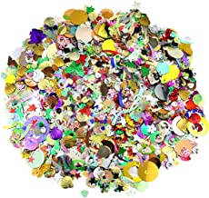 butterfunny 300 Gram Loose Mixed Sequins and Spangles Craft Supplies for DIY Crafts, Sewing, Sequin Slime, Wedding Christm...