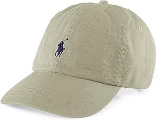 Polo Fashion Signature Pony Adjustable Beige Cotton Hat