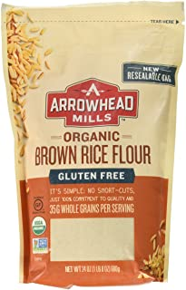 Arrowhead Mills Organic Gluten-Free Brown Rice Flour, 24 oz.