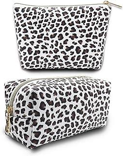 حقيبة مستحضرات التجميل حقيبة ماكياج صغيرة حقيبة ماكياج للنساء طباعة ماء حقيبة سفر أدوات الزينة