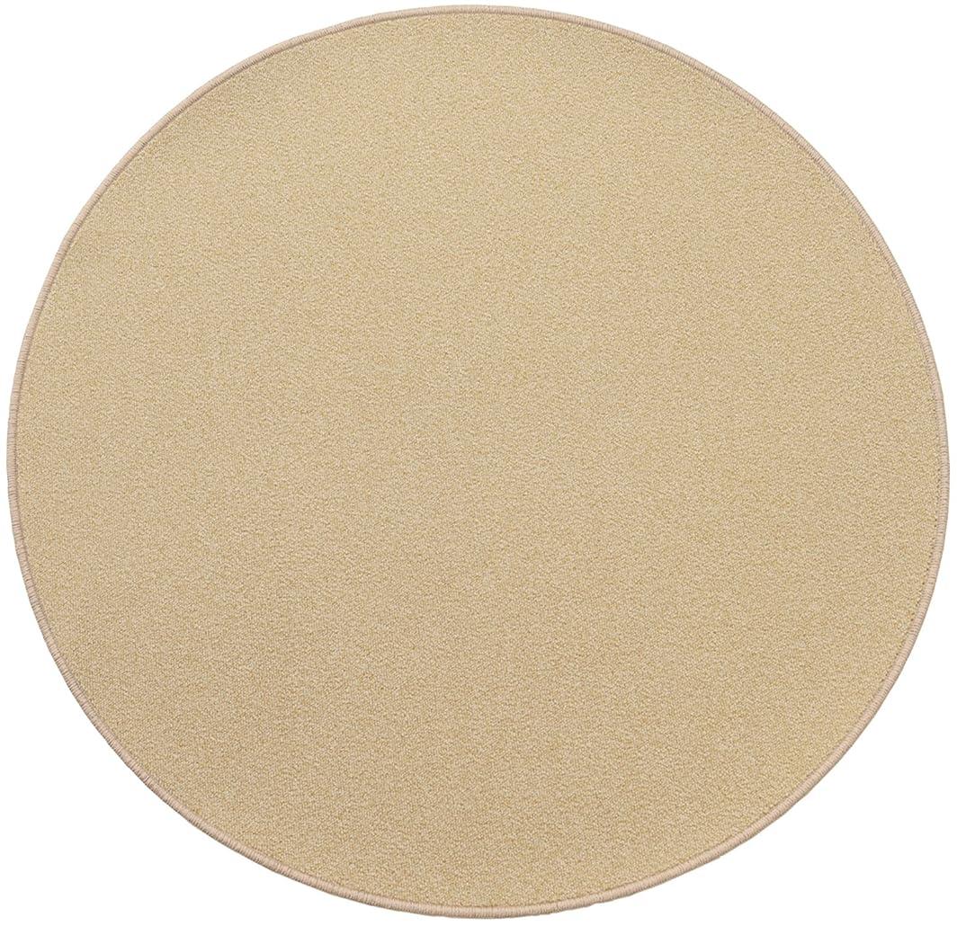 ソファー一致する冷笑する円形マット 撥水 滑り止め付 径40cm クリームアイボリー