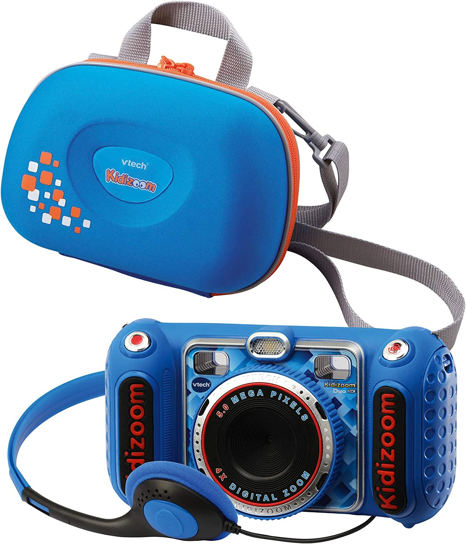 Vtech 80 520094 80 520094 Kidizoom Duo Dx Inkl Tragetasche Blau Kinderkamera Spielzeug