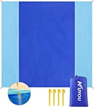 """KUYOU Sand Proof Beach Blanket, Extra Large Beach Mat 82""""79"""" Sand Free Water Resistant Beach Mat Includes 4 Stake, Ultra Portable for Beach, Picnic, Camping"""
