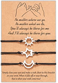 Tarsus 3 Pinky Promise Matching Bracelet Friendship Sister Jewelry Gift for Best Friend Family Teens
